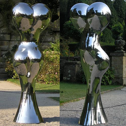 Stainless steel art sculpture