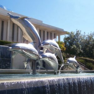 Metal Animal Stainless Steel Dolphin Fountain Sculpture
