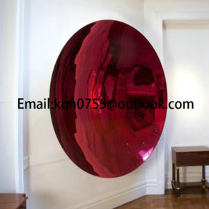 Mirror polishing concave sculpture