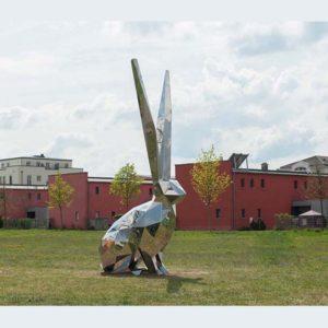 Modern-Art-Garden-Stainless-Steel-Animal-Rabbit