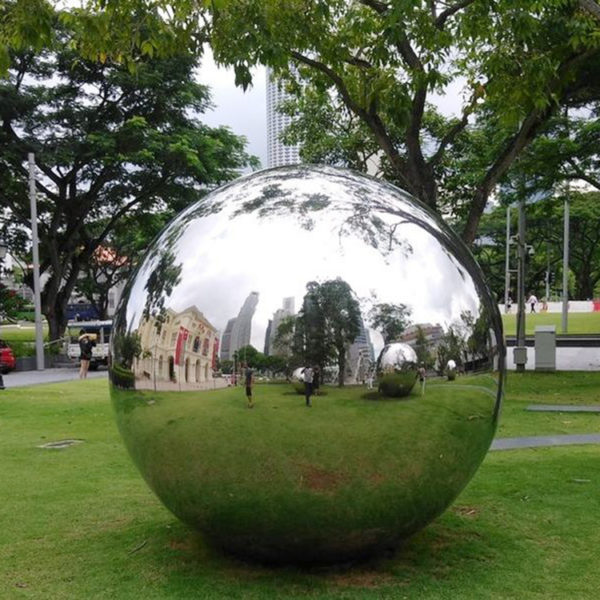 Large Stainless Steel Sculpture Ball