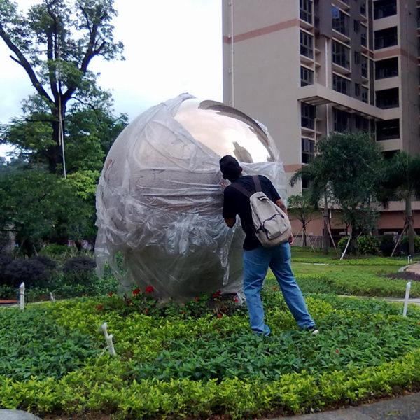 Large Stainless Steel Garden Spheres