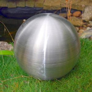 brushed stainless steel sphere