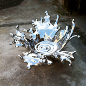 Art Decorative Stainless Steel Modern Sculpture For Sale dripping