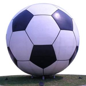 football-stainless-steel-sculpture