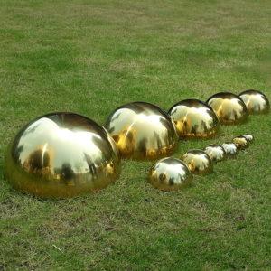 Titanium-gold stainless steel hemisphere