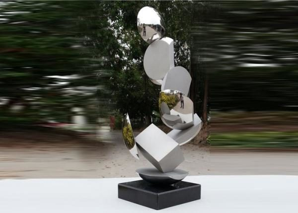 modern_stainless_steel_sculpture_highly_polished_for_pool_decoration