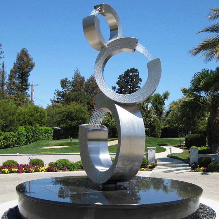 фонтан металлический