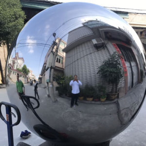 Large Stainless Steel Garden Spheres