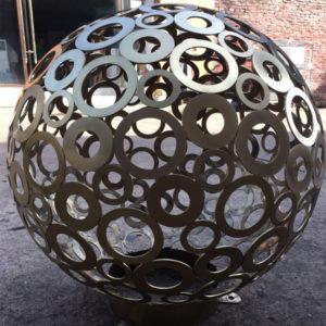 1000 mm hollow out stainless steel balls garden ornament sculpture