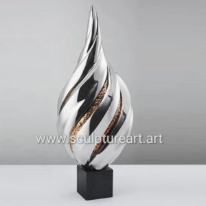 66cm High Home Decor Stainless Steel Polished Sculpture