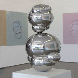Contemporary Decorative Metal Stainless Steel Balloon Sculpture