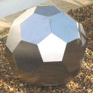 Garden Decor Stainless Steel Rolling Ball Sculpture