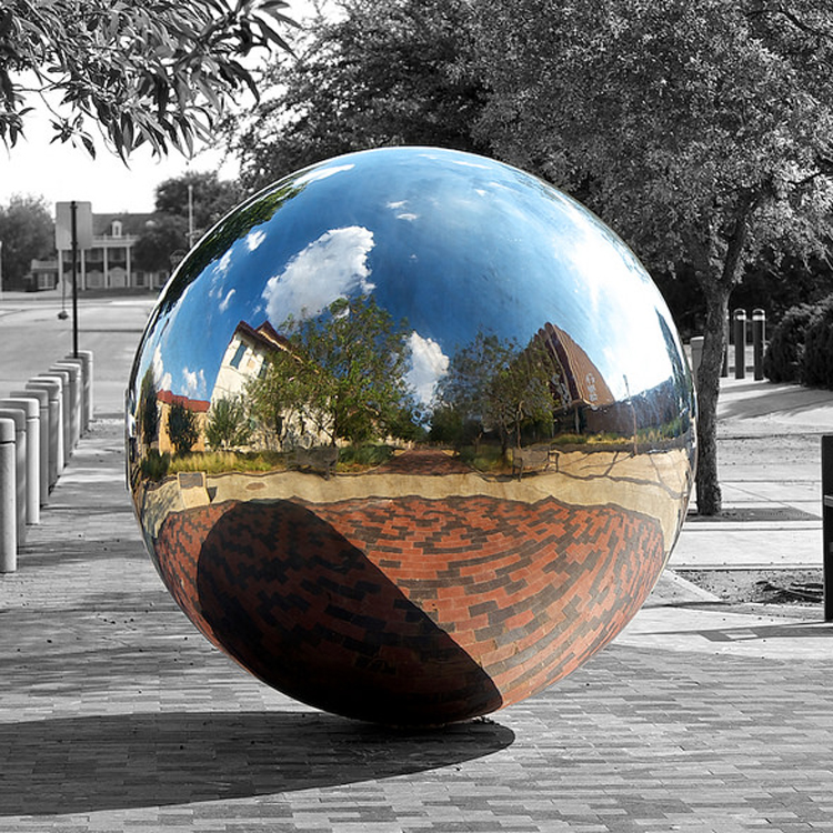 Modern garden 2M stainless steel hollow ball sculpture