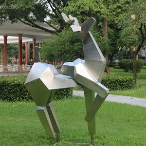Stainless-Steel-Animal-Metal-Garden-Deer-Sculpture