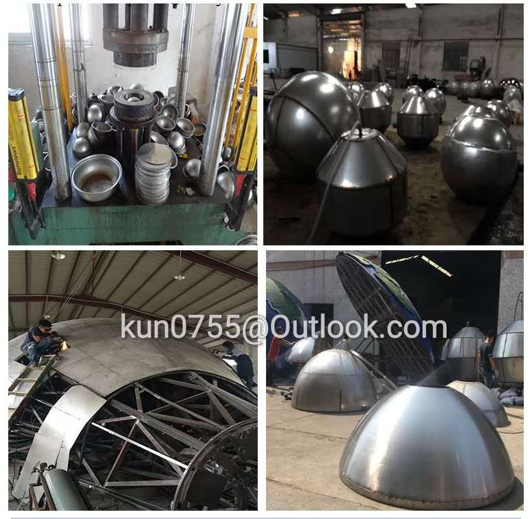 Stainless steel ball sculpture production process