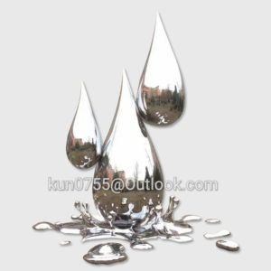 garden modern art stainless steel water drop sculpture