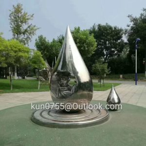 outdoor-metal-sculpture-water-drop-stainless-steel