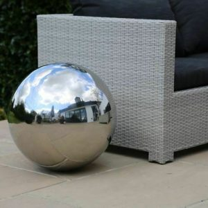 50cm Stainless Steel Sphere Decorative Garden Ornament