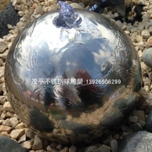 Hand-Carved-Metal-Polished-Ball-Water-Fountain